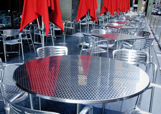 Wade Hampton, SC Stainless Steel Table
