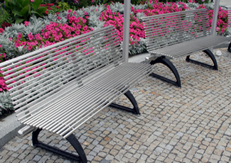 Wade Hampton, SC Stainless Steel Benches